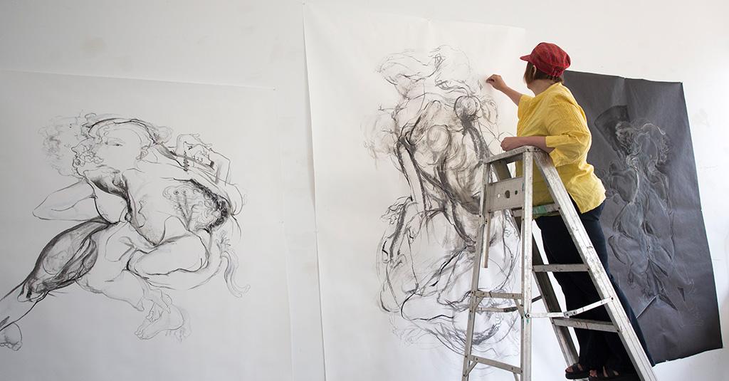 Lynn Schirmer at Artscape Gibraltar Point